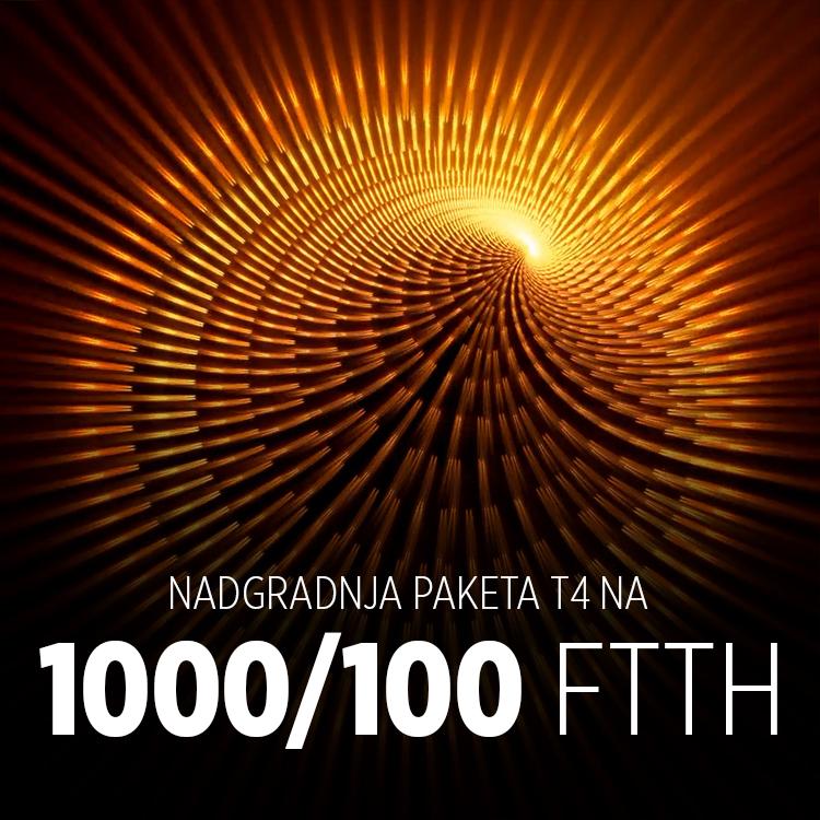 Nadgradnja do 1000/100 Mbit/s na FTTH paket T4