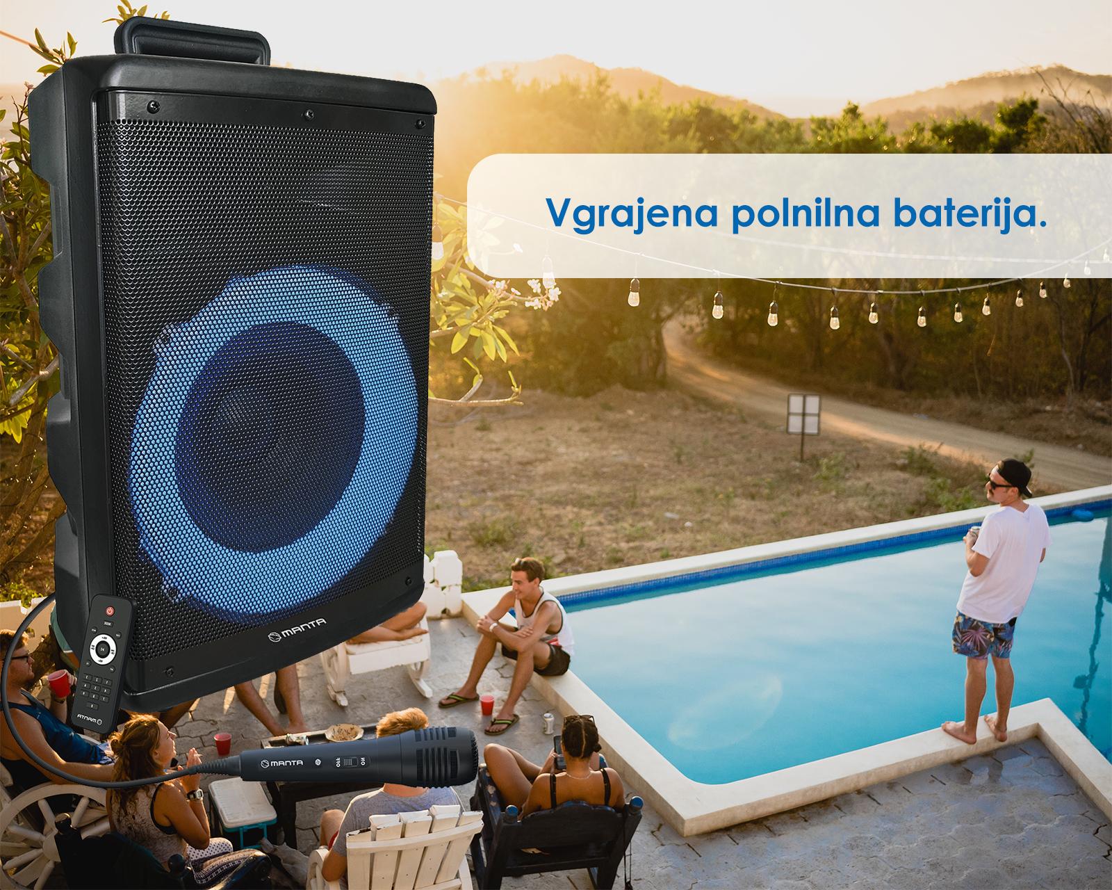 Karaoke zvočni sistem MANTA SPK5030, Bluetooth 5.0, TWS