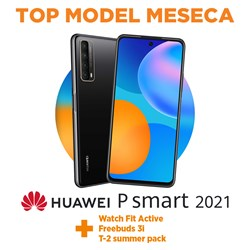 Kpl. tel. Huawei P smart 2021 + watch fit active + freebuds 3i + T-2 summer pack