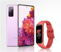Komplet Samsung Galaxy S20 FE 2021, nebeško lila + Galaxy Fit2, škrlatna