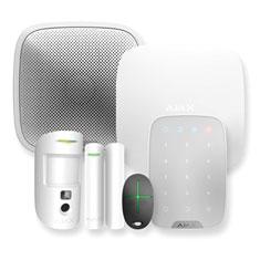 Napredni brezžični alarmni komplet AJAX, bela
