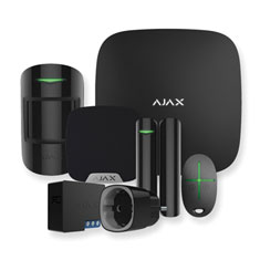 Pametni Dom AJAX brezžični alarmni komplet, črna